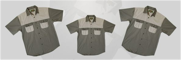Two Tone Short Sleeve Hunting Shirt